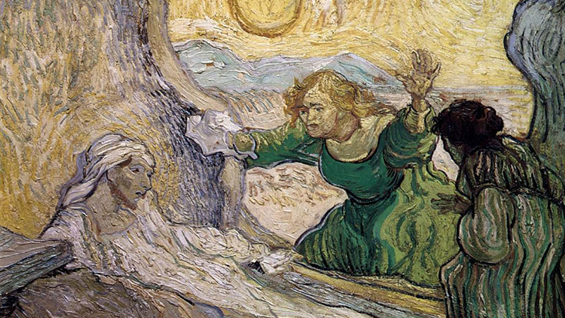 Santa Marta em Ressurreição de Lázaro Van Gogh 1890